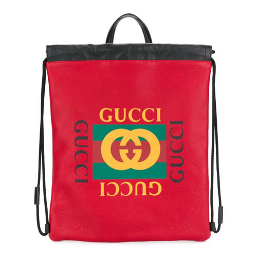 Gucci Print Drawstring Backpack