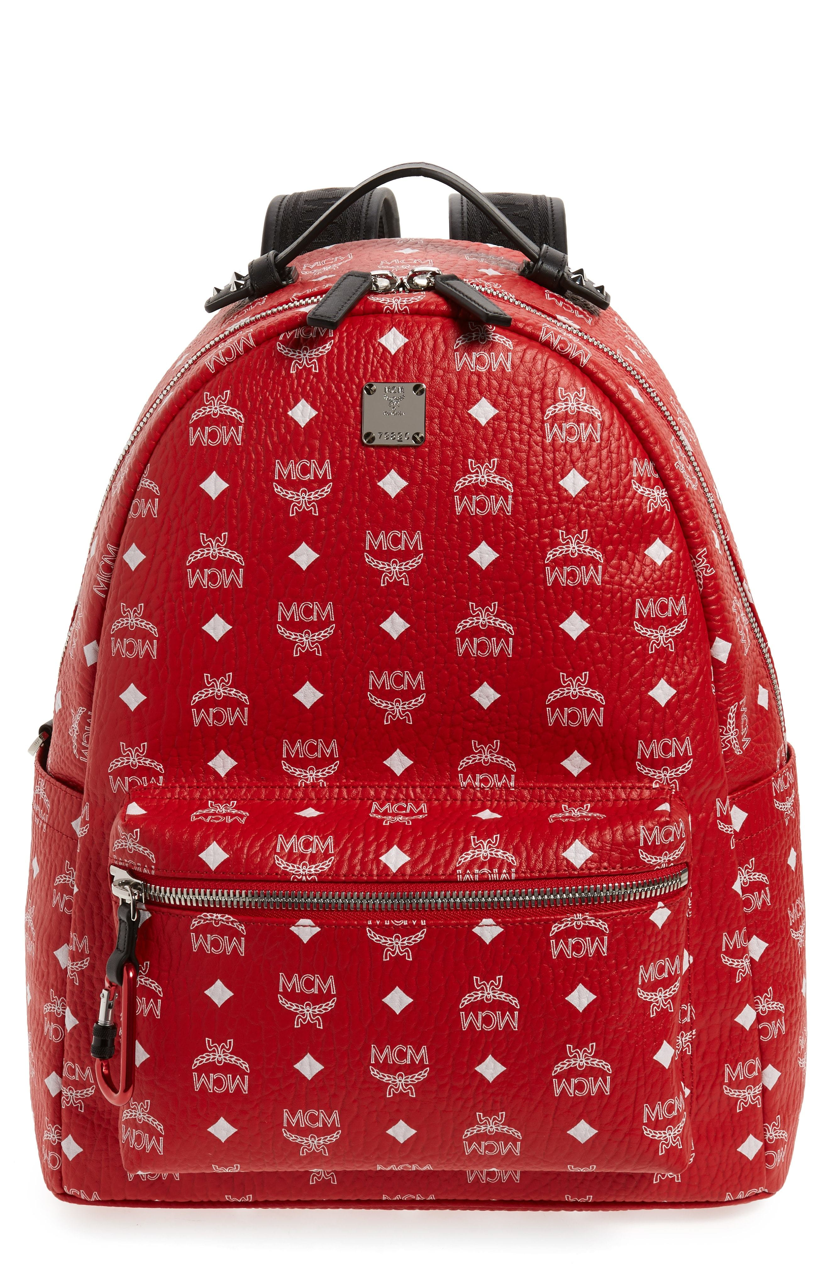 MCM Visetos Faux Leather Backpack