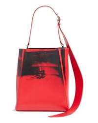 Calvin Klein 205W39nyc X Andy Warhol Foundation Electric Chair Leather Bucket Bag