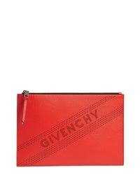 Givenchy Medium Perforated Logo Leather Pouch