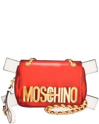 Moschino bag tabs printed leather clutch medium 1198165
