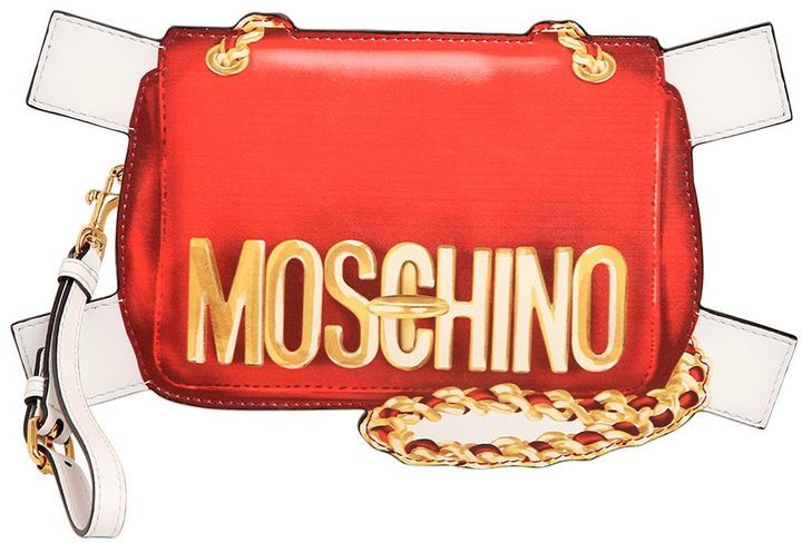c5cff7c154 ... Red Print Leather Clutches Moschino Bag Tabs Printed Leather Clutch ...