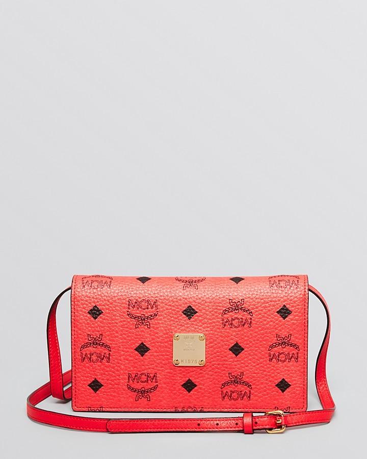 Gallery Source · MCM Crossbody Visetos Wallet 460 Bloomingdale s Lookastic  com 173f1f3f6617d