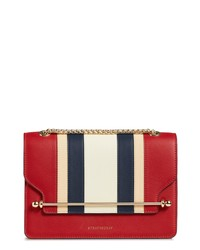 STRATHBERRY Eastwest Stripe Leather Crossbody Bag