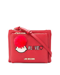 Love Moschino Logo Zipped Shoulder Bag
