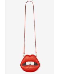 Nasty Gal Factory Gelareh Mizrahi Lips Embossed Leather Crossbody Bag
