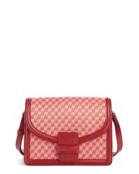 Dries Van Noten Woven Raffia Leather Crossbody Bag