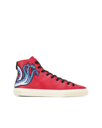 62dde5a6e88 Men s Red High Top Sneakers by Gucci