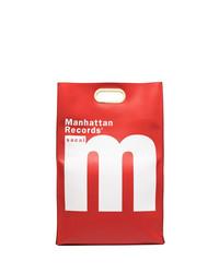 Sacai Record Print Foldover Tote Bag