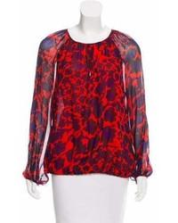 Diane von Furstenberg Silk Cheetah Print Blouse