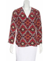 Veronica Beard Silk Printed Blouse