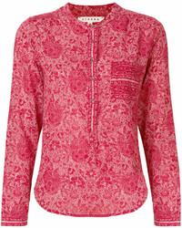 Xirena floral print long sleeve blouse medium 7013454
