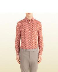 Gucci Duke Rope Print Cotton Muslin Shirt