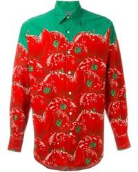 Kenzo vintage tomato print shirt medium 716030