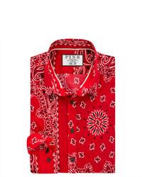 Thomas Pink Deacon Print Slim Fit Button Cuff Shirt