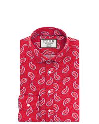 Thomas Pink Hayward Print Slim Fit Button Cuff Shirt