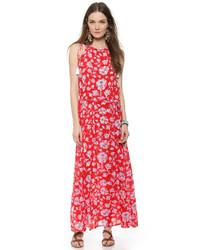 Red Print Maxi Dress
