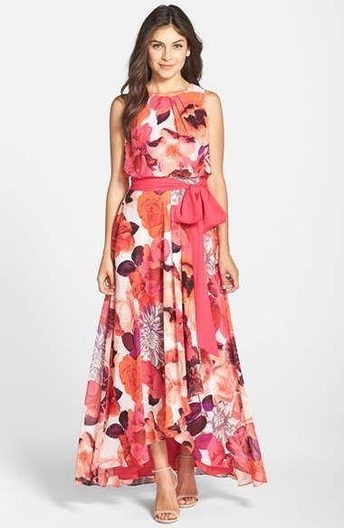 quality first online sale classic style $158, Eliza J Floral Print Chiffon Maxi Dress
