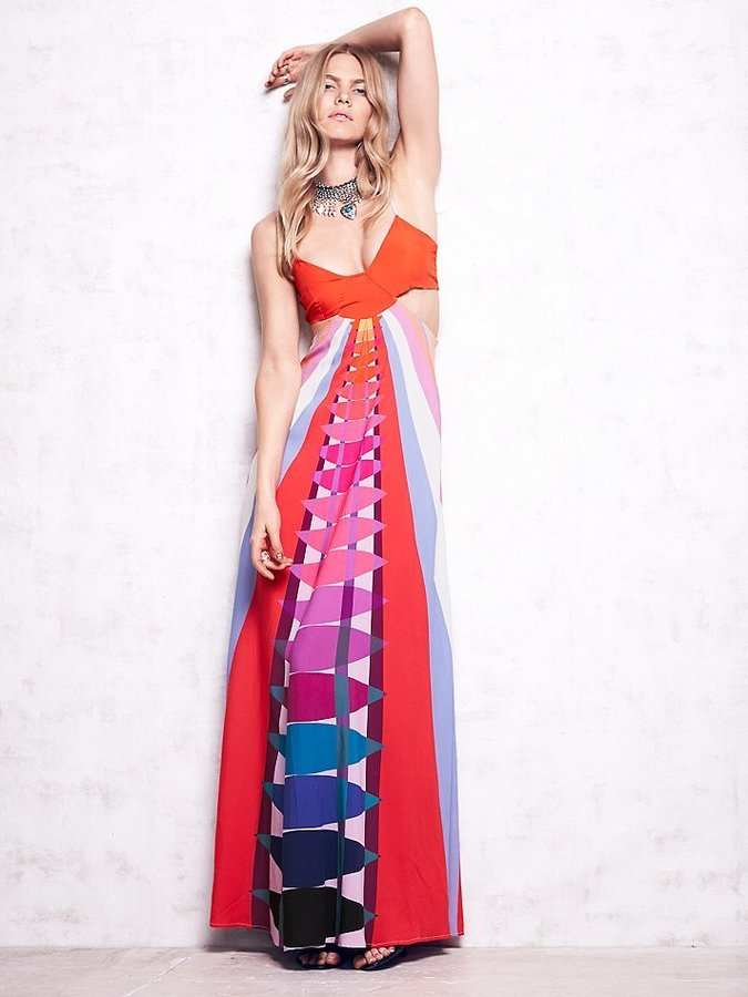 Mara Hoffman Cutout Printed Maxi Dress   Where to buy & how to wear