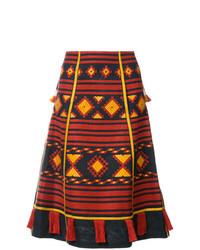Croatia embroidered midi skirt medium 7989064