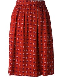 Vintage printed straight cut skirt medium 149479