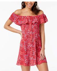 Be Bop Juniors Off The Shoulder A Line Dress