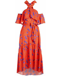 Borgo De Nor Off Shoulder Printed Dress