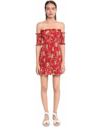 Zimmermann Floral Printed Off The Shoulder Dress
