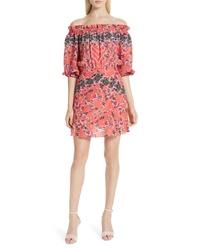 Saloni Grace Off The Shoulder Silk Dress