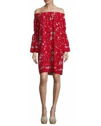 Max Studio Hollyhock Flower Printed Dress