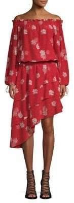 The Kooples Off The Shoulder Silk Dress