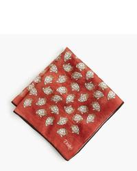 Drakes Drakes Cotton Silk Pocket Square In Turtle Print
