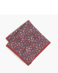 Linen pocket square in floral print medium 3671982