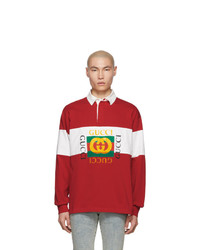 Gucci Red Vintage Rugby Polo