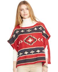 Lauren Jeans Co Southwestern Print Poncho