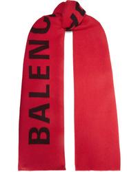 Balenciaga Intarsia Wool Scarf