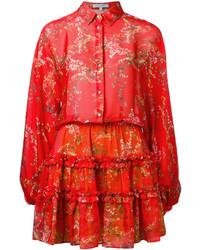 Alexis Floral Print Shirt Dress