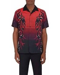 Lanvin Dragon Print Bowling Shirt