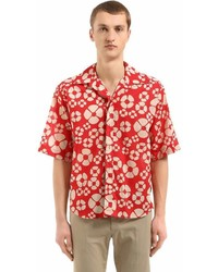 Marni Floral Printed Cotton Voile Shirt