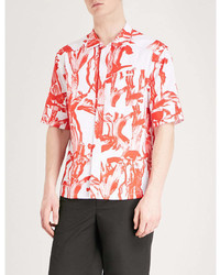 Givenchy Iris Print Relaxed Fit Cotton Shirt