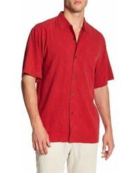 Tommy Bahama Islander Fronds Silk Original Fit Short Sleeve Shirt