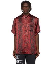 Vetements Red Satin Python Shirt