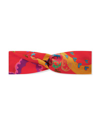 Etro Knotted Printed Silk Satin Headband