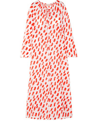 Marni Printed Silk Tte Maxi Dress