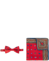 Etro Christmas Printed Bow Tie And Pocket Scarf Set