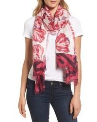 Exotic floral print cashmere silk scarf medium 5209331