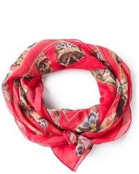 Floral skull print scarf medium 27817