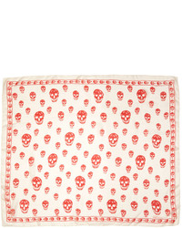 Ivory and red skull scarf medium 1250311