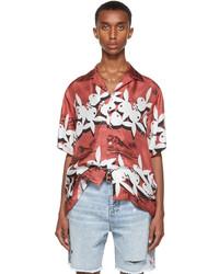 Amiri Red Playboy Edition Silk Tropical Short Sleeve Shirt