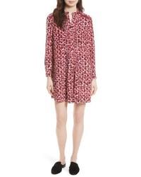 Kate Spade New York Print Brushed Silk Swing Dress